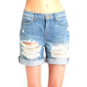 J Brand slouchy distressed boyfriend shorts